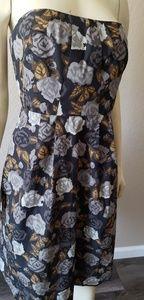 J. Crew black Floral dress 12 pockets